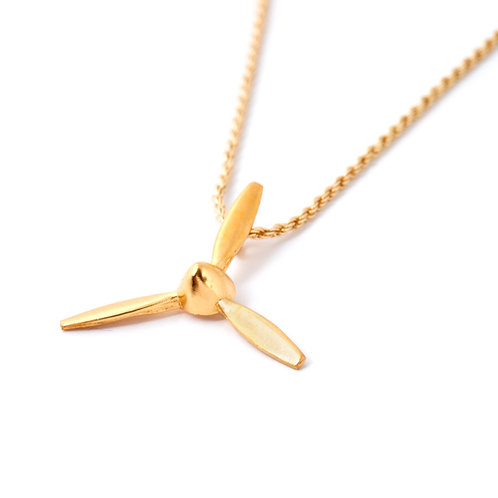 14K Goldfield Airplane Necklace for Women