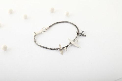 Flight Attendant Airplane Bracelet gift
