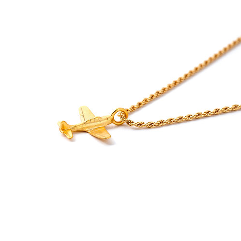 Airplane Charm Necklace Goldfield.