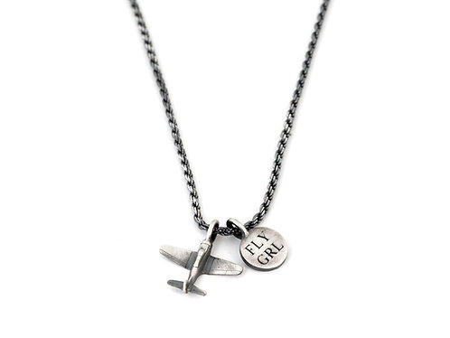 Airplane Necklace for Women, Fly Girl Necklace,Female Pilot Gifts