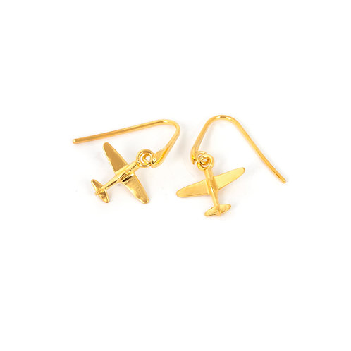 Airplane Drop Earrings Gift For Female Pilot