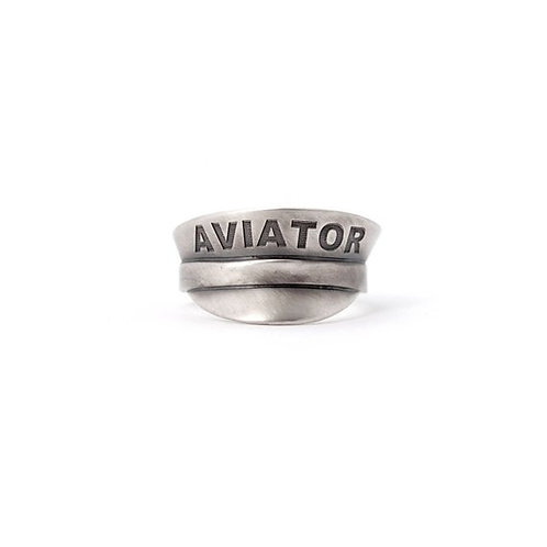 Sterling Silver Aviator Ring
