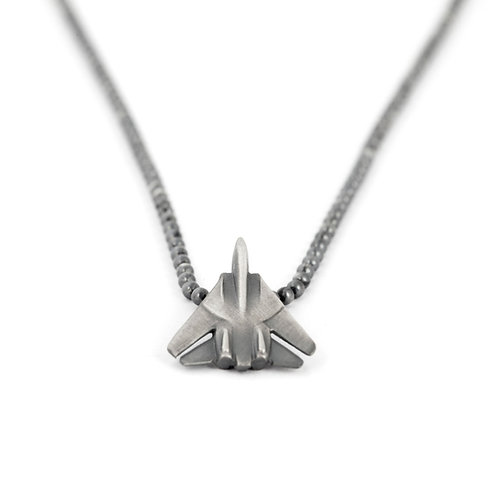 F14 Tomcat Pendant Necklace Sterling Silver