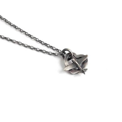 Sterling Silver Airplane Heart Necklace