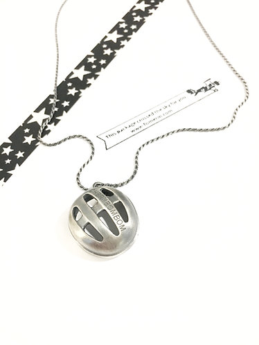 Sterling Silver bicycle helmet necklace
