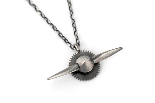 Airplane Propeller Pendant Necklace