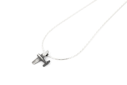 Gift for Travelers Airplane Charm Necklace