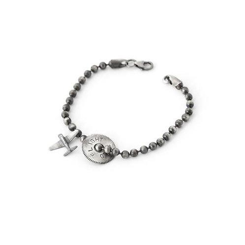 Airplane Mens Bracelet Sterling Silver