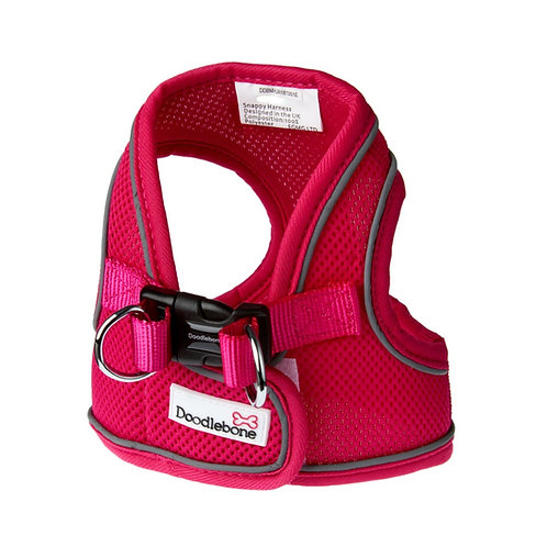 Doodlebone Neon Pink Airmesh Snappy Harness - Small