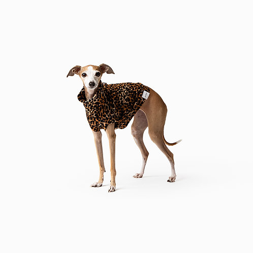 Mister Woof Coco Turtleneck Leopard Print Extra Small