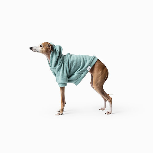 Mister Woof Miles Hoodie Mint Green Small