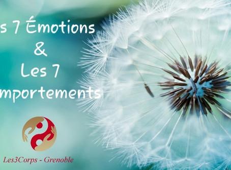 Nouvelle formation en janvier 2020: Les 7 émotions & les 7 comportements