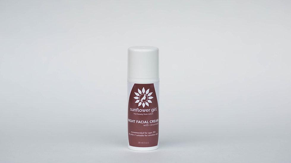 Night Facial Cream for Dry Skin