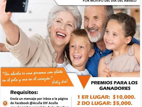 PREMIARÁ EL SISTEMA DIF AL ABUELO O ABUELA DE ACUÑA CON MAYOR EDAD