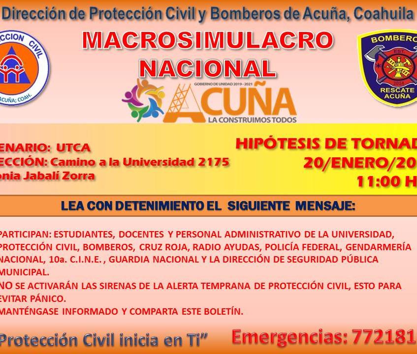 SIMULACRO NACIONAL 20-01-20