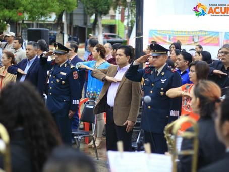 REALIZAN CEREMONIA CIVICA DEL 208 ANIVERSARIO DEL INICIO DE INDEPENDENCIA EN MÉXICO