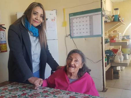 SIGUE ATENCIÓN ESPECIAL Y PERMANENTE A ADULTOS MAYORES  DE LA CASA DEL ABUELO.