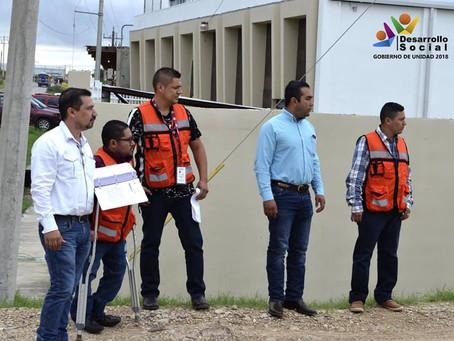 RECORREN SECTORES EN DONDE LA SEDATU INVERTIRÁ RECURSOS EN PAVIMENTACIÓN Y CENTRO COMUNITARIO.