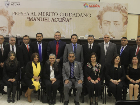 """EN SESIÓN SOLEMNE DE CABILDO ENTREGARON LA PRESEA AL MÉRITO CIUDADANO """"MANUEL ACUÑA"""" 2018, AL CRONIS"""