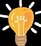 gold light bulb illustration