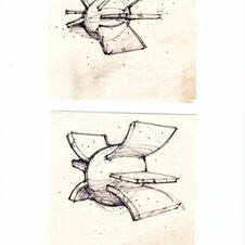 Lamp Sketches Literally on a Napkin!