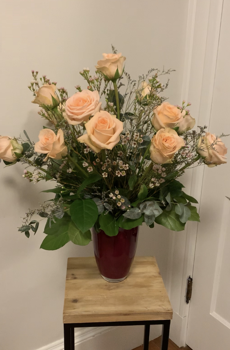 1 dozen roses -  your choice of color