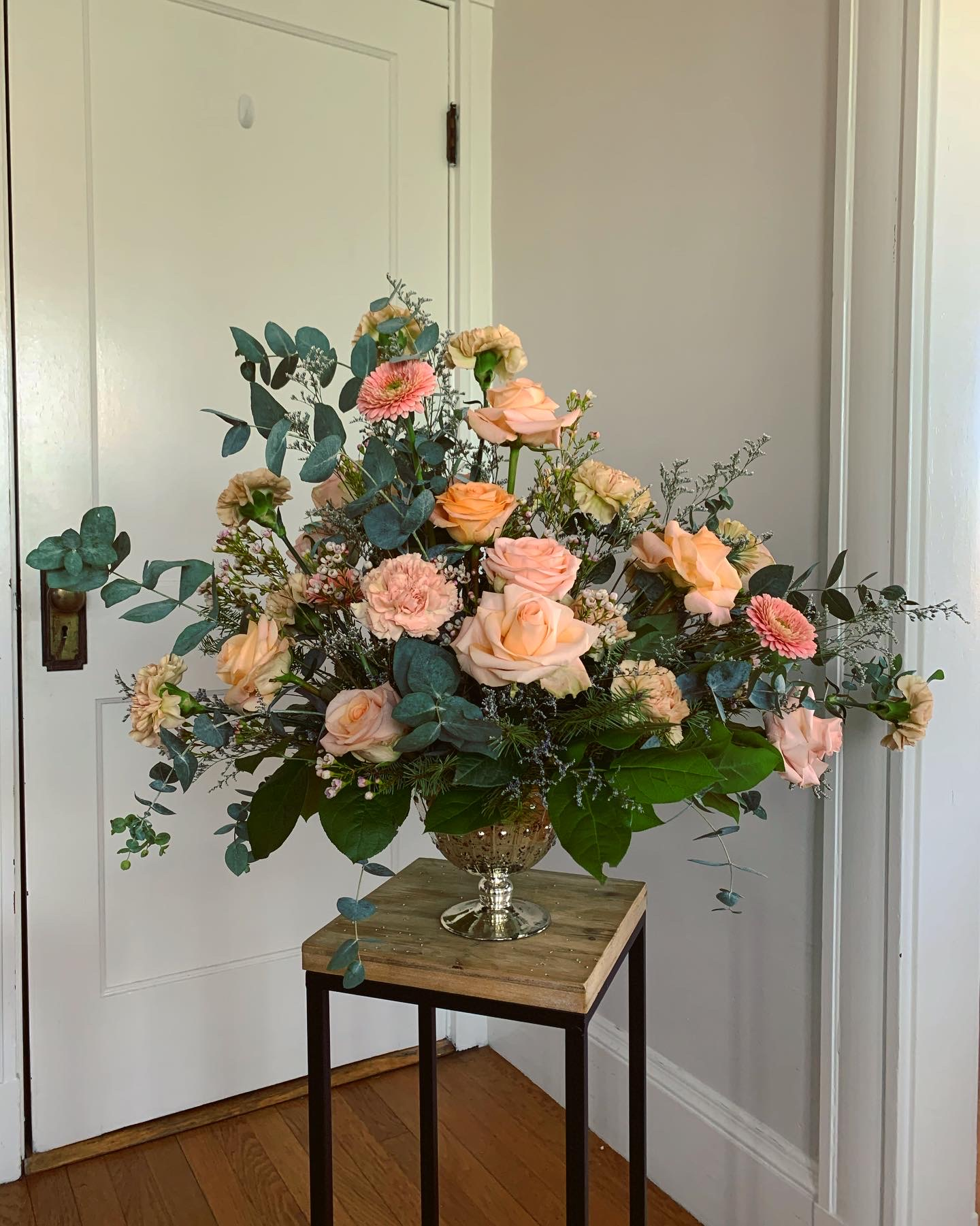 Standout piece with various blooms