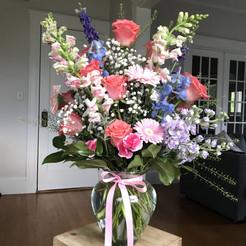 A vase full of spring