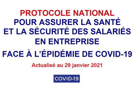 Protocole national santé sécurité - Version du 29 janvier 2021