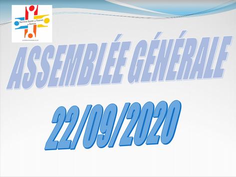 Compte rendu Assemblée Générale du 22 Septembre 2020