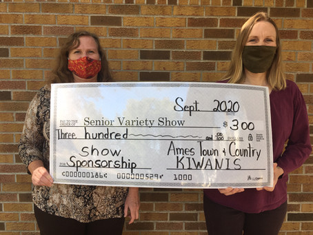 Ames Town and Country Kiwanis Supports Senior Variety Show