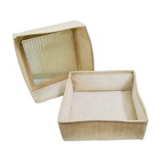 Jute Mesh Packing Box [25(w) x 10(h) x 2