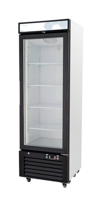 "Migali C-12RM 24"" Single Glass Swing Door Merchandiser Refrigerator - 12 Cu. Ft."