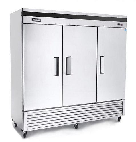 "Migali C-3RB-HC 82"" Bottom Mount Triple Solid Door Reach-In Refrigerator"