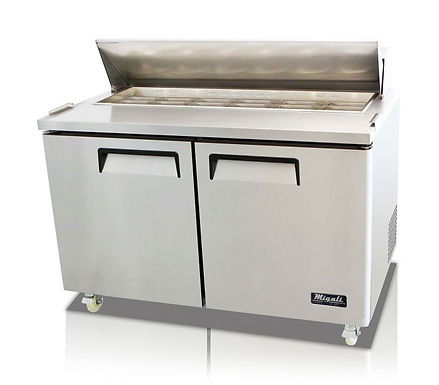 "Migali C-SP60-16 60"" Standard Top Bain Marie Sandwich Prep Refrigerator - 16 Pan"