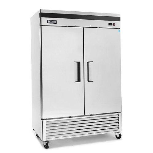 "Migali C-2RB-35-HC 40"" Double Solid Door Reach-In Refrigerator"