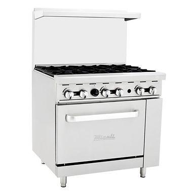 "Migali C-RO6 36"" 6 Burner Gas Range with Oven"
