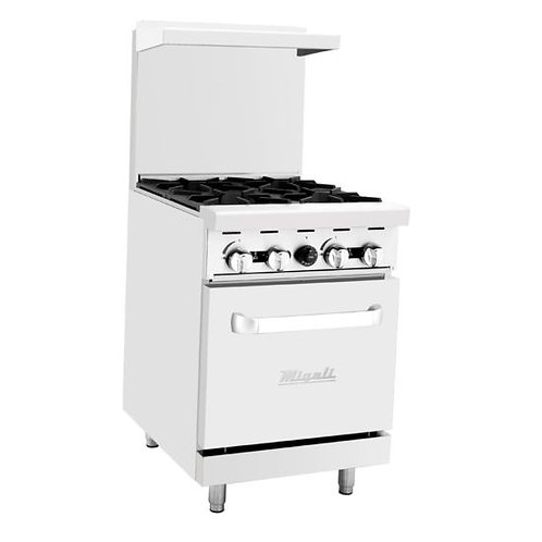 "Migali C-RO4 24"" 4 Burner Gas Range with Oven"