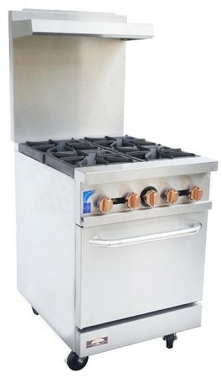 Copper Beech CBR-4 4 Open Burner Gas Range w/ Oven