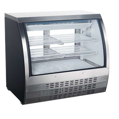 """Universal FCI-48-SC 48"""" Refrigerated Deli Meat Display Case, Curved Glass, S/S"""