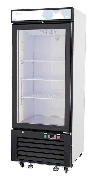 "Migali C-10RM-HC 24"" Single Glass Swing Door Merchandiser Refrigerator"