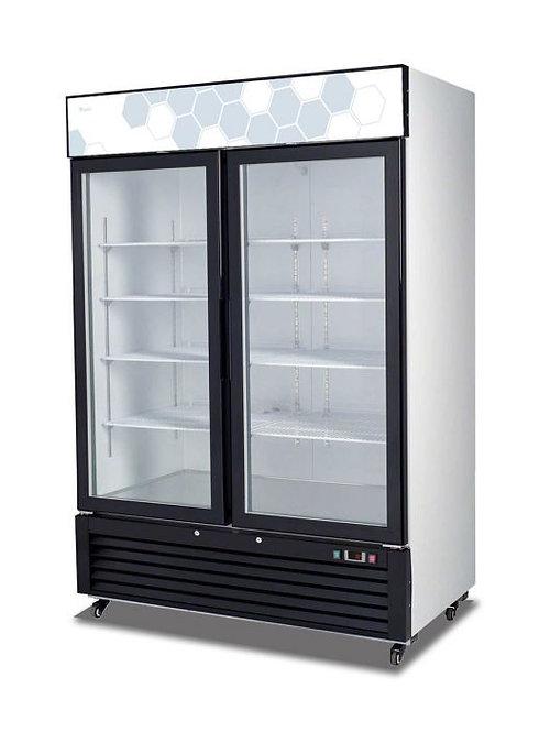 """Migali C-49RM 54"""" Double Glass Swing Door Merchandiser Refrigerator - 49 Cu. Ft."""