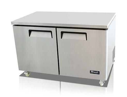 "Migali C-U60R 60"" Undercounter Work Top Refrigerator - 18.2 Cu. Ft."