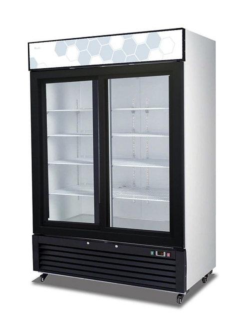 """Migali C-49RS 54"""" Double Glass Sliding Door Merchandiser Refrigerator - 49 Cu. F"""