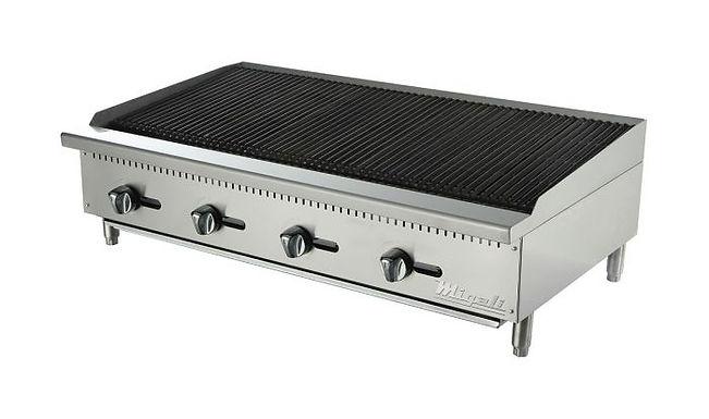"Migali C-RB48 48"" Countertop Gas Radiant Broiler"