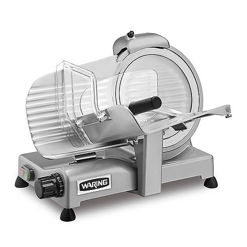 "Waring WCS250SV Manual Heavy Duty Slicer w/ 10"" Knife - Aluminum, 120v"