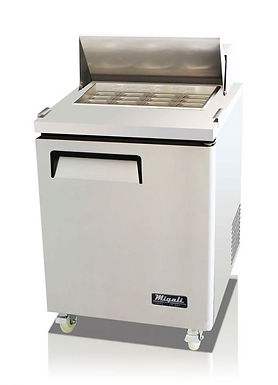 "Migali C-SP27-12BT 28"" Mega Top Bain Marie Sandwich Prep Refrigerator - 12 Pans"