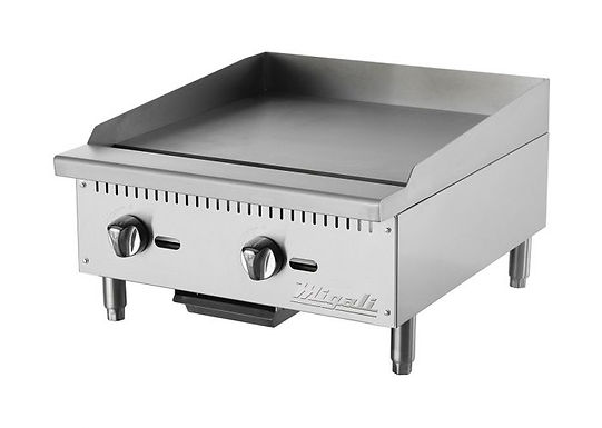 """Migali C-G24 24"""" Gas Countertop Griddle with Manual Controls"""