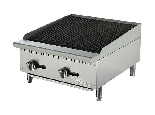 "Migali C-RB24 24"" Countertop Gas Radiant Broiler"
