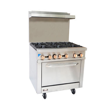 Copper Beech CBR-6 6 Open Burner Gas Range w/ Oven